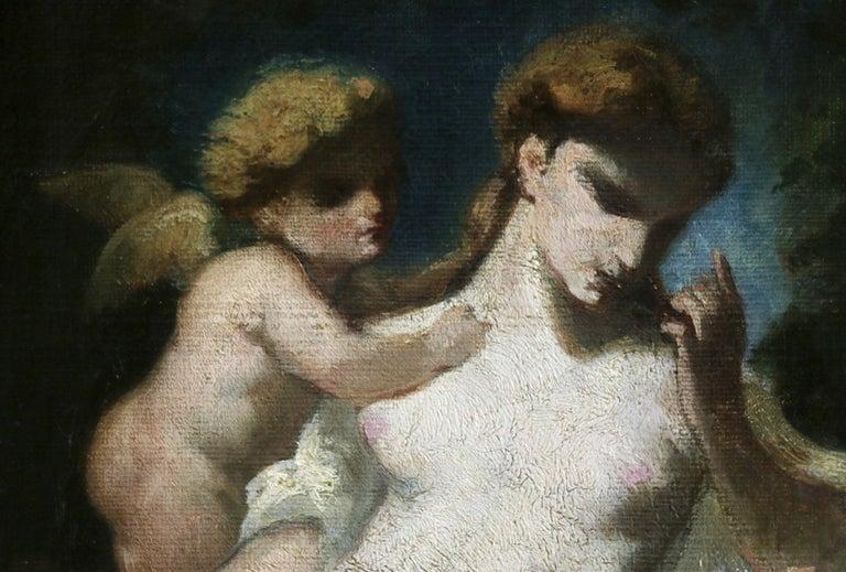 L'Amour et la Richesse - Barbizon School Painting by Narcisse Virgile Diaz de la Peña