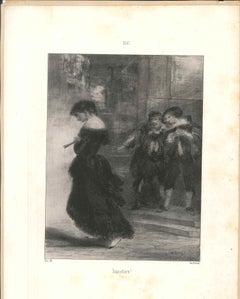 Imposture! - Original Lithograph by N. V. Diaz de la Pena - 19th century