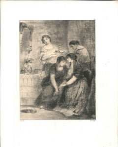 Women - Original Lithograph by N. V. Diaz de la Pena - 19th century