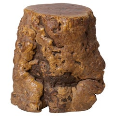 Narcissus Natural Wood Occasional Table or Stool