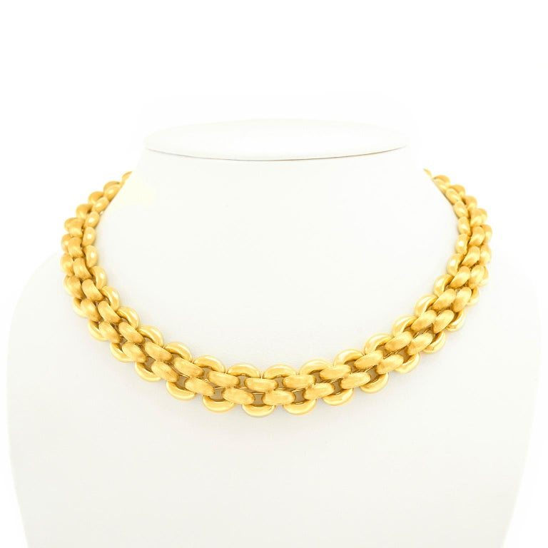 Nardi Gold Necklace In Excellent Condition For Sale In Litchfield, CT