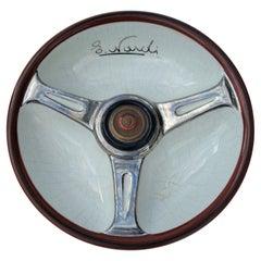 Nardi Jaguar Steering Wheel Ceramic Cigar Ashtray, Italy, ca. 1960's