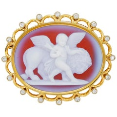 Nardi Love Conquers All Cameo Brooch