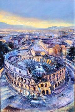 Roma Colosseum, Italia, Metropolitan City of Rome.