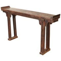 Narrow Antique Chinese Altar Table