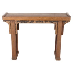 Narrow Antique Chinese Altar Table or Console