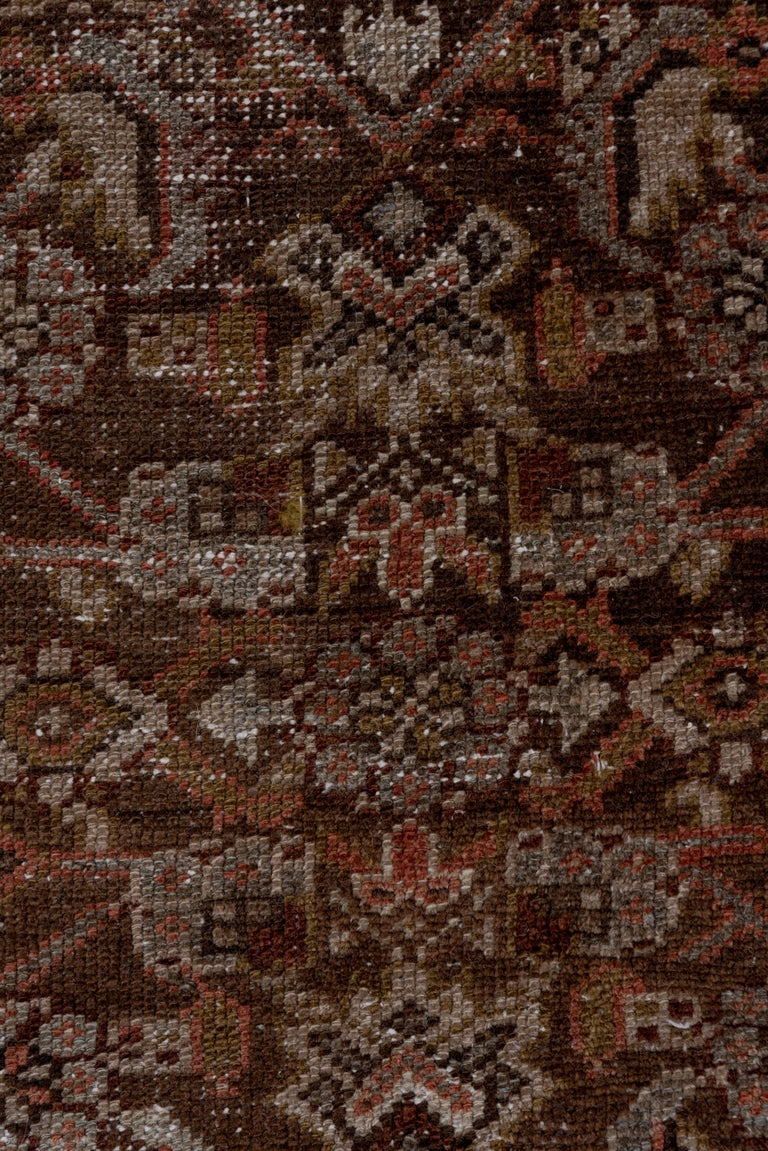 Narrow Antique Hamadan Runner In Fair Condition For Sale In New York, NY