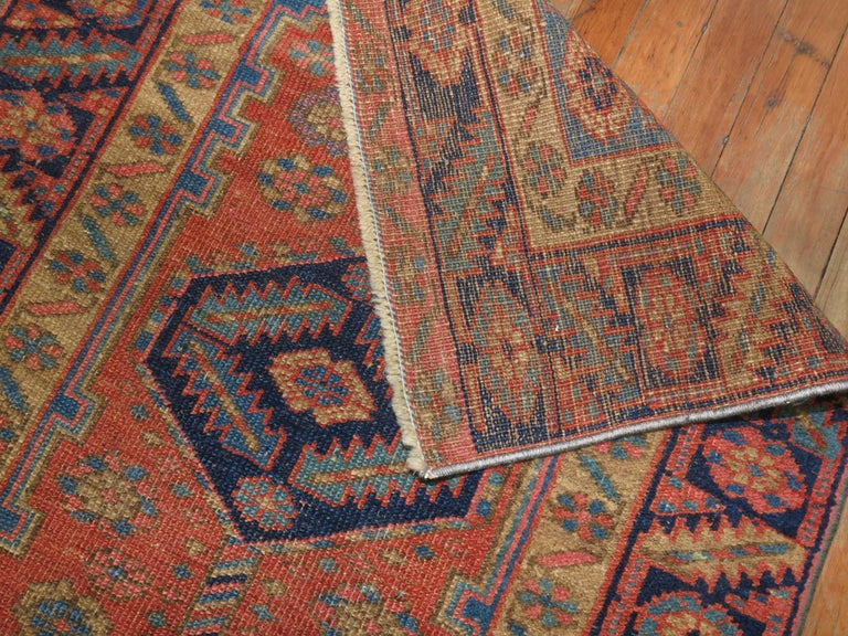 A one of a kind decorative antique Persian Heriz runner.