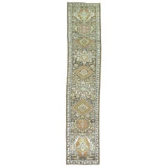 Narrow Antique Persian Heriz Runner