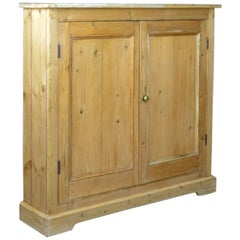 Narrow Antique Pine Cupboard, English, Victorian, Kitchen Cabinet, circa 1850