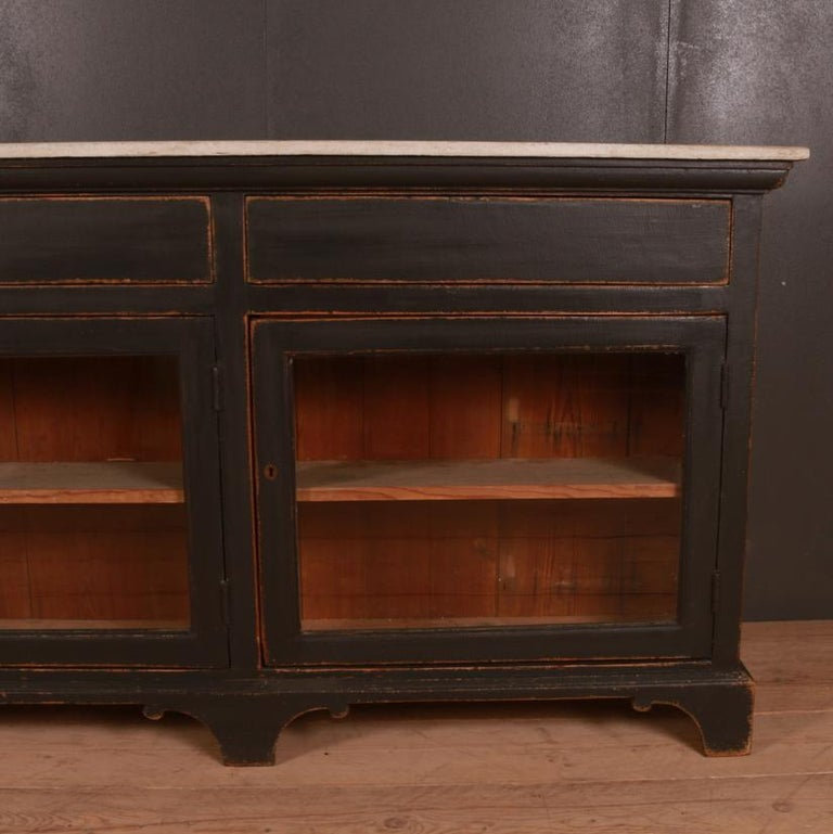 Victorian Narrow English Painted Sideboard For Sale