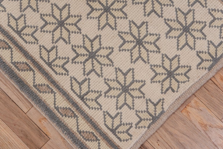Hand-Knotted Narrow Konya Runner For Sale