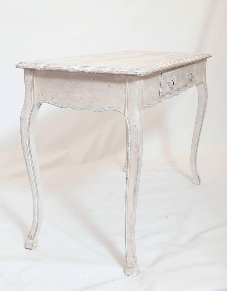 Narrow Painted Italian Writing Table In Excellent Condition For Sale In West Palm Beach, FL