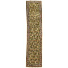 Narrow Paisley Yellow Antique Runner