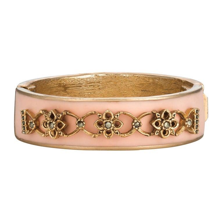 Contemporary CINER Narrow Pink Secret Garden Bracelet For Sale