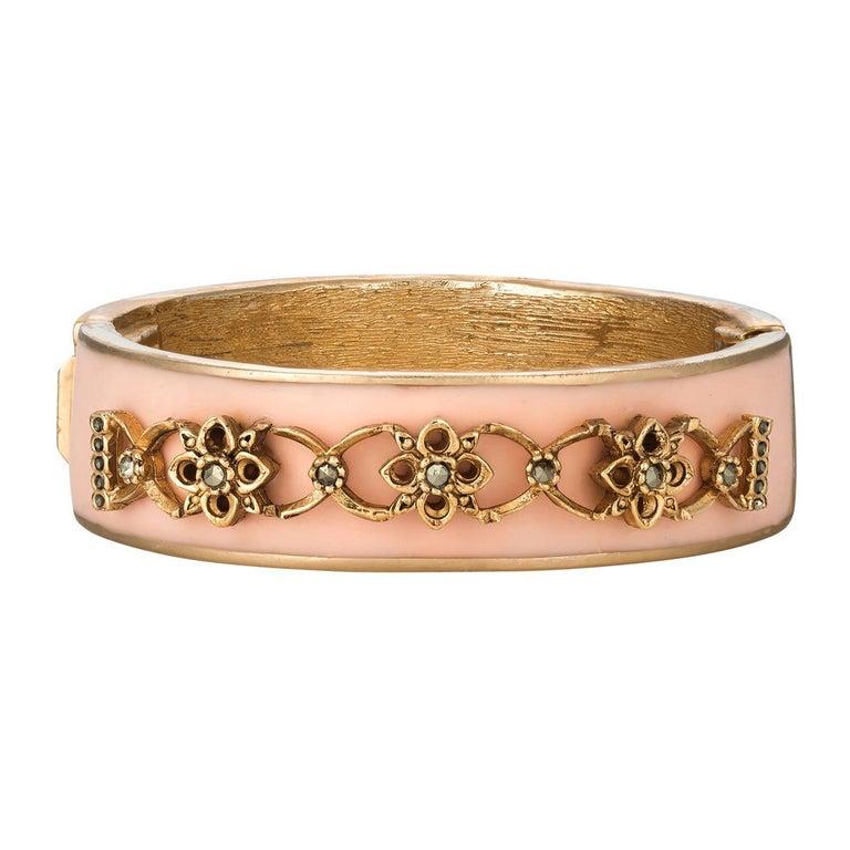 CINER Narrow Pink Secret Garden Bracelet For Sale