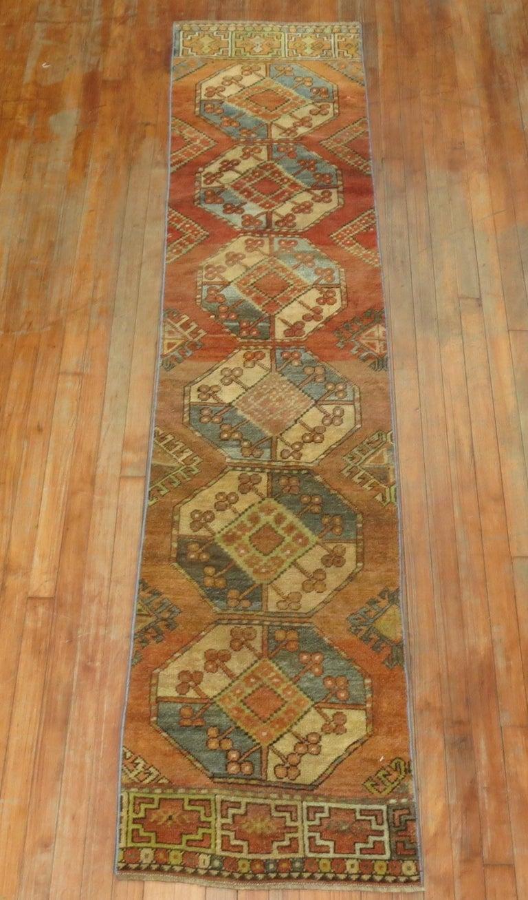 An early 20th century decorative Ersari rug runner.