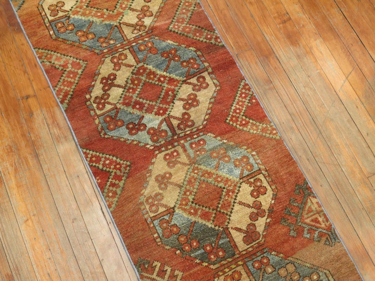Narrow Tribal Ersari Runner In Excellent Condition In New York, NY