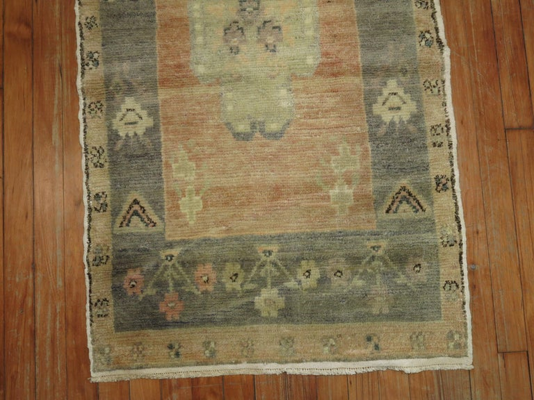 Hand-Woven Narrow Vintage Turkish Runner For Sale
