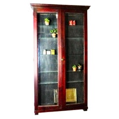 Narrow Wall-Mounted Apothecary Display Cabinet, circa 1920