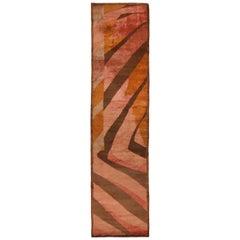 Naruna Design Geometric Pink and Brown Wool Runner