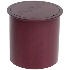 Nascondino Small Wooden Container with Leather Interior by Bottega Ghianda