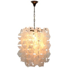 Nason for Mazzega Murano Glass Chandelier Made of Modular Elements 1960s Italy