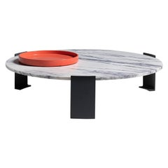Nassau Table Coffee Table, Marble, Memphis, France, Le Berre Vevaud