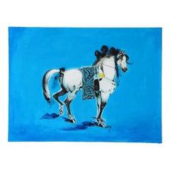 """Nasser Ovissi, 'Iranian, Born 1934' """"Arabian Horse"""" Oil on Canvas Painting"""