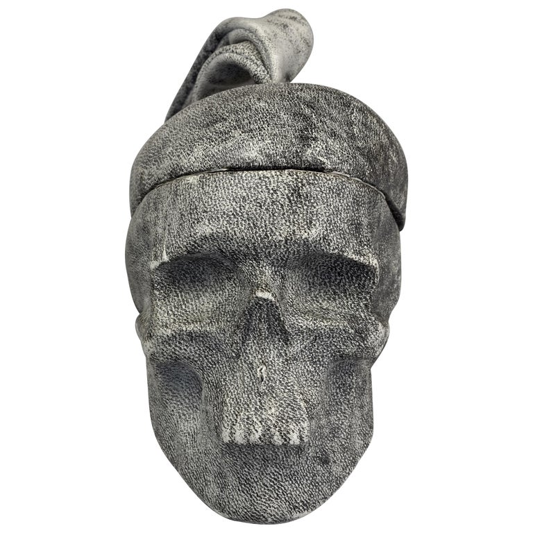 NATALIA BRILLI 2009 Surreal Skull Gothic Wristlet Bag For Sale
