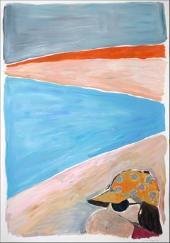 Last Sumer Sunset, Beach Landscape, Fashion Female Portrait, Katz Style, Warm