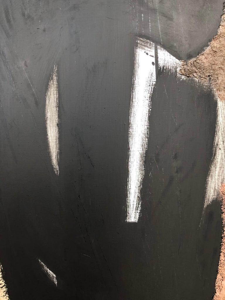 From Vertical Series II & III - art in dark in black, grey, beige, peach puff 3