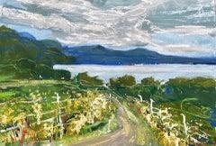 Natalie Bird, Path to the Loch, Original Art of Scotland, Contemporary Painting