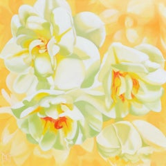 Double Daffodils, Oil Painting