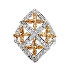 Natalie K. 14 Karat White Gold and 1.75 Carat Diamond Ring