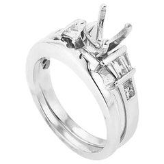 Natalie K 14 Karat White Gold and Diamond Bridal Mounting Set SM4-051504W