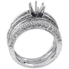 Natalie K 14 Karat White Gold Diamond Bridal Mounting Set SM4-13433W