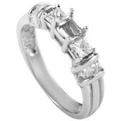Natalie K 14 Karat White Gold Diamond Engagement Ring Mounting EN4-061162W