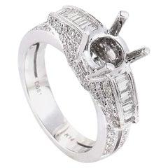 Natalie K 14 Karat White Gold Diamond Mounting Ring