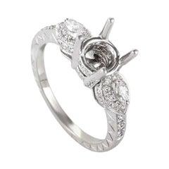 Natalie K 14 Karat White Gold Diamond Mounting Ring NAK27-062813