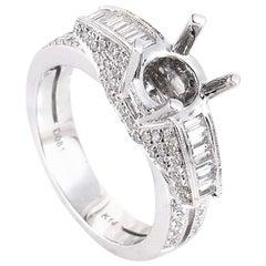 Natalie K 14 Karat White Gold Diamond Mounting Ring SM4-082118