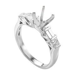 Natalie K 18 Karat White Gold 2-Sided Diamond Mounting Ring NAK19-062813