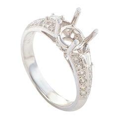 Natalie K 18 Karat White Gold and Diamond Engagement Ring Semi-Mount SM8-041261W