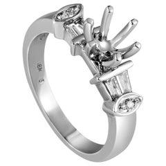 Natalie K 18 Karat White Gold Diamond Engagement Ring Mounting SM8-031260W