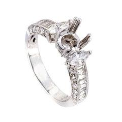 Natalie K 18 Karat White Gold Diamond Mounting Ring