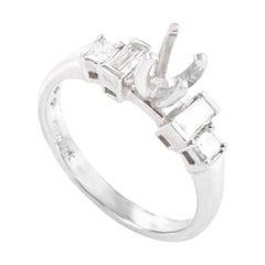 Natalie K .42 Carat Platinum and Diamond Engagement Ring Mounting