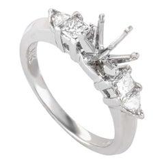 Natalie K., .50 Carat Platinum and Diamond Engagement Ring Mounting