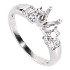 Natalie K .50 Carat Platinum and Diamond Engagement Ring Mounting