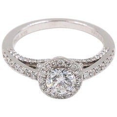 Natalie K Forever Mark Center of My Universe Round Diamond Engagement Ring .91ct