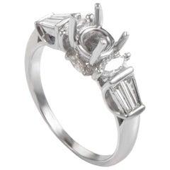 Natalie K Lovely 14 Karat White Gold Diamond Mounting Ring NAK41-062813